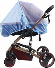 TININNA Universal Insektenschutz passend für Kinderwagen Moskitonetz Fliegennetz Mückennetz Insekt Netz Netting für Kinderwägen Cradles blau