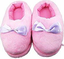 TININNA Winter Niedlich Bowknot Fußwärmer USB Aufheizbare Hausschuhe Wärmeschuhe Wärmekissen für Füße