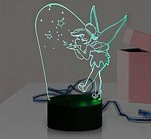 Tink Bell Lampe Cartoon 3D Optische Illusion Magic