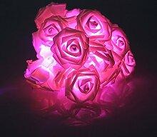 Tinksky Blume LED Licht LED Rosen Lichterkette 20