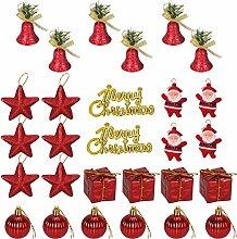 Tinksky Glitter Weihnachtsbaum Ornamente Hängende