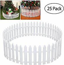 Tinksky Kunststoff-Lattenzaun für Weihnachtsbaum,