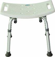 Tinksky Sessel Badezimmer verstellbar Dusche Stuhl 6-hauteur Medizinisches Badewanne Hocker Sitzbank (weiß)