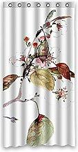 """Tinte und Farbe Malerei–Rot Geranien Blumen Muster Polyester Stoff wasserdicht Badezimmer Duschvorhang 91,4x 182,9cm (90x 183cm), Polyester, G, 36"""""""" x 72"""