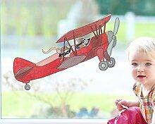 TinyFoxes Fensterbild Flieger - Kleberfreie und