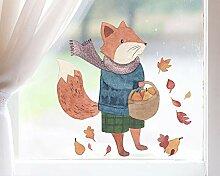 TinyFoxes Fensterbild Fuchs auf Wanderschaft -