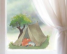 TinyFoxes Fensterbild Fuchs Geht Zelten -