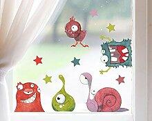 TinyFoxes Fensterbild Monster - Wiederverwendbare