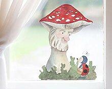 TinyFoxes Fensterbild Pilz und Marienkäfer -