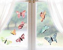 TinyFoxes Fensterbild Schmetterlinge im Set aus 16