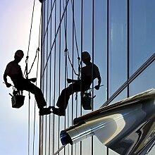 TipTopCarbon Fenster Spiegelfolie 600 x 152cm Silber Tönungsfolie Sonnenschutz Fensterfolie Spion Folie