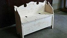 Tiroler Sitzbank mit Rückenlehne Holz roh