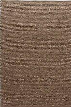 TISCA Teppich aus Schurwolle LIV braun