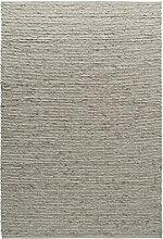 TISCA Teppich aus Schurwolle LIV grau
