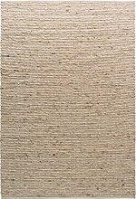 TISCA Teppich aus Schurwolle LIV Sand