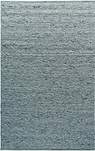 TISCA Teppich aus Schurwolle NEO blau