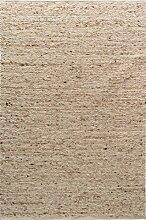 TISCA Teppich aus Schurwolle NEO Sand