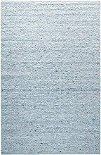 TISCA Teppich aus Schurwolle Rouge hellblau