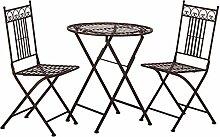 Tisch + 2 Stühle *Paris* Garnitur Gartenmöbel