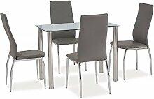 Tisch 'Ted' Glastisch Esstisch 100x60