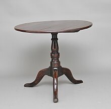 Tisch aus Eiche mit Dreibein, 1780er