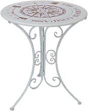 Tisch BAYO rund Ø60cm Metall mit Vintage
