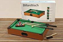Tisch-Billard tlg. 52x31x10cm Tisch Billiard Billiardtisch Weihnachtsgeschenk Tischspiel BIlliard