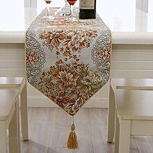 Tisch boxen european style tv schrank tischtuch kaffee tisch dekoration tuch quaste-B 28x180cm(11x71inch)