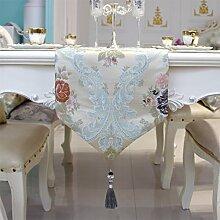 Tisch boxen european style tv schrank tischtuch kaffee tisch dekoration tuch quaste-C 33x180cm(13x71inch)