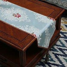 Tisch boxen european style tv schrank tischtuch kaffee tisch dekoration tuch quaste-D 35x210cm(14x83inch)
