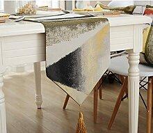 Tisch boxen european style tv schrank tischtuch kaffee tisch dekoration tuch quaste-A 32x160cm(13x63inch)