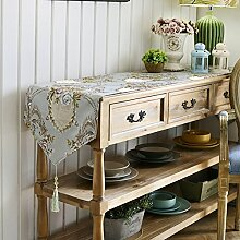 Tisch boxen european style tv schrank tischtuch kaffee tisch dekoration tuch quaste-B 33x240cm(13x94inch)