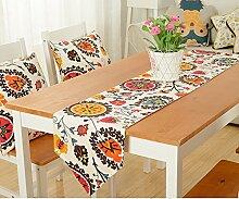 Tisch boxen european style tv schrank tischtuch kaffee tisch dekoration tuch quaste streifen-C 30x220cm(12x87inch)