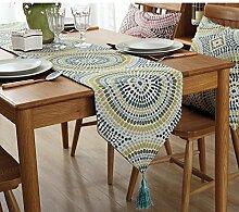 Tisch boxen kreativ personalitytv schrank tischtuch kaffee tisch dekoration tuch quaste -B 32x180cm(13x71inch)