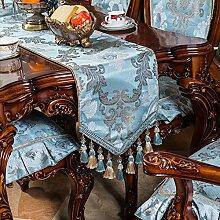 Tisch Coffee Table Tischläufer [Europäische Tuch] Moderne minimalistische Bett Flag Bett Schal TV Schrank Stoffstreifen-G 35x180cm(14x71inch)