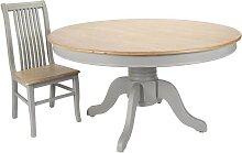 Tisch Esstisch RESIDENZ rund Antikgrau Holz
