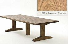Tisch, Esszimmertisch, Eiche Bassano, massiv,