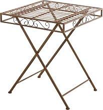 Tisch Funda -antik/braun