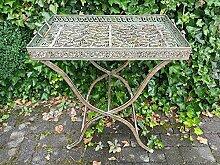 Tisch Gartentisch Beistelltisch Metall Antiklook