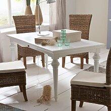Tisch im Landhausstil Weiß gedrechselten Beinen