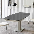 Tisch in Grau Glas ausziehbar