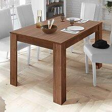 Tisch in Nussbaumfarben Ansteckplatte