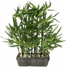 Tisch-Kunstpflanze Bambus in Topf