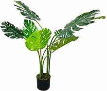 Tisch-Kunstpflanze Fensterblatt im Topf Die