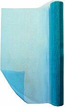 Tisch-Läufer Organza-Rolle ★ TÜRKIS ca. 36 cm Breit | 9 m Lang ✓ Deko-Stoff Organza-Band ✓ Tisch-Band für Taufe Hochzeit Geburtstag Basteln ✓ Ränder sind nicht eingenäht | trendmarkt24 - 360083