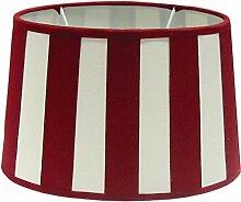 Tisch-Lampenschirm Chintz *oval* Balkenstreifen