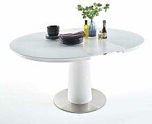 Tisch mit ausziehbare Glasplatte Weiß