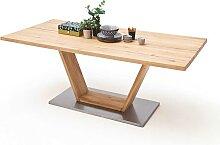 Tisch mit Balkeneiche massiv modern