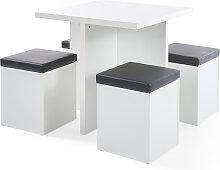 Tisch mit Hocker, weiß (Gr.1)