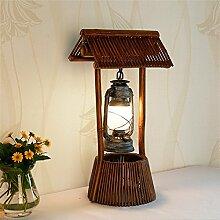 Tisch Nachttischlampen Handgefertigte rustikalen Petroleumlampe für das Schlafzimmer/Wohnzimmer/Nachttisch / Kantine / Kaffee Zimmer Weihnachtsgeschenke Dekorative Leuchten Office Lampe, 560*280 mm